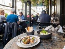 O restaurante famoso de L'Escargot Montorgueil imagens de stock