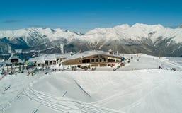 O restaurante nas montanhas em Sochi Fotografia de Stock