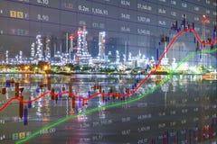 O resultado do investimento no mercado preliminar foto de stock royalty free
