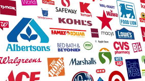 O retalho marca Logo Loop ilustração royalty free