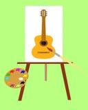 O retrato com instrumento de música. Imagem de Stock Royalty Free