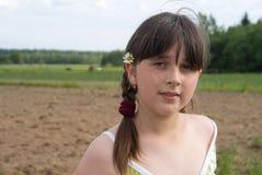 O retrato da menina Foto de Stock