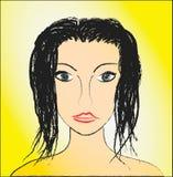 O retrato da menina Imagem de Stock Royalty Free