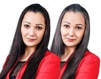 O retrato da mulher 20,60 anos velho Imagem de Stock