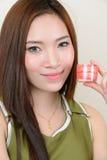 Retrato da mulher asiática saudável bonita Fotos de Stock