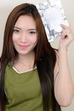 Retrato da mulher asiática saudável bonita Fotografia de Stock