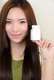 Retrato da mulher asiática saudável bonita Imagem de Stock