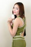 Retrato da mulher asiática saudável bonita Imagens de Stock