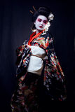 O retrato da mulher asiática bonita nova, gueixa dentro Foto de Stock Royalty Free