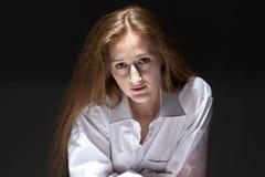 O retrato da mulher com natural compõe Imagem de Stock