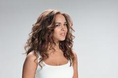O retrato da mulher enojado e insatisfeito Imagem de Stock