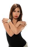 O retrato da mulher latino-americano nova imagens de stock