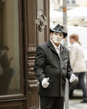 O retrato da rua mimica em Praga Fotografia de Stock Royalty Free