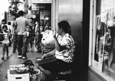 O retrato de um asiático cozinha no bairro chinês, New York Fotos de Stock Royalty Free