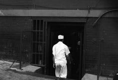 O retrato de um asiático cozinha no bairro chinês, New York Fotos de Stock