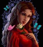 O retrato de um duende bonito com aumentou Foto de Stock Royalty Free