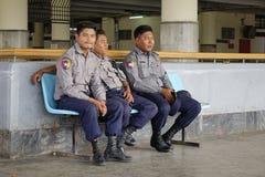 O retrato do birmanês policia Fotos de Stock Royalty Free