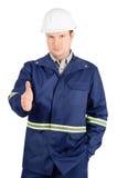 O retrato do coordenador novo com mão estendeu ao aperto de mão Foto de Stock Royalty Free