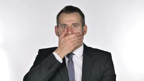 O retrato do homem de negócios Gesturing Shock da barba, surpreendeu filme