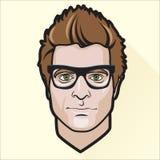 O retrato do homem liso do projeto ilustração royalty free
