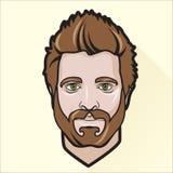 O retrato do homem liso do projeto ilustração stock