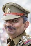 O retrato dos militares participa em atividades do ensaio para a próximo parada do dia da república da Índia Nova Deli, India Imagem de Stock