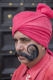 O retrato dos militares participa em atividades do ensaio para a próximo parada do dia da república da Índia Nova Deli, India Imagens de Stock