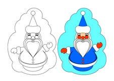 O retrato para a coloração. Papai Noel. Imagem de Stock