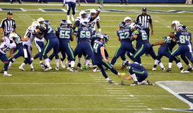 O retrocesso Steven Hauschka dos Seattle Seahawks Fotos de Stock Royalty Free