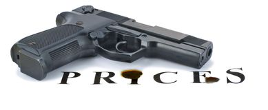 O revólver ajuntou a inscrição de Foto de Stock Royalty Free