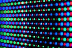 O RGB conduziu o painel de indicador do diodo Foto de Stock Royalty Free