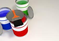 O RGB pinta cubetas Fotos de Stock