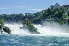 O Rhine Falls é a cachoeira a maior em Europa, Schaffhausen Imagens de Stock