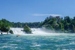O Rhine Falls é a cachoeira a maior em Europa, Schaffhausen Fotografia de Stock Royalty Free