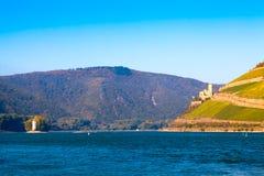 O Rhine perto de Bingen, Alemanha imagem de stock