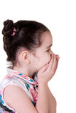 (O ridendo) bambina sorpresa Fotografia Stock Libera da Diritti
