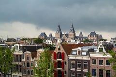 O Rijksmuseum em Amsterdão Imagem de Stock