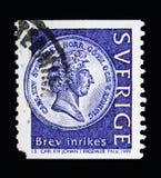 O riksdaler do rei Carl XIV John 1, 1831-43, inventa o serie, cerca de 1999 Imagem de Stock Royalty Free