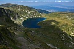 O rim, os sete lagos Rila, montanha de Rila Fotografia de Stock
