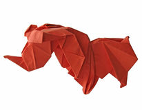 O rinoceronte de Origami isolou-se Imagem de Stock Royalty Free
