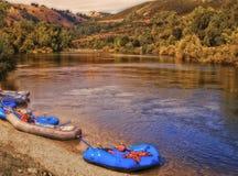 O rio americano, Califórnia imagens de stock
