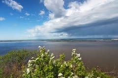 O rio Amur Fotos de Stock Royalty Free