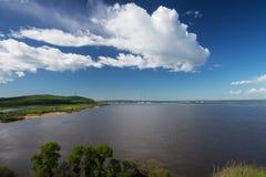 O rio Amur Foto de Stock Royalty Free