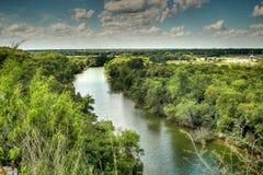 O Rio Brazos, Waco texas Fotografia de Stock Royalty Free