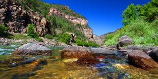 O Rio Colorado na garganta de Glenwood Fotografia de Stock Royalty Free