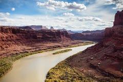 O Rio Colorado no ponto do cavalo inoperante Foto de Stock Royalty Free