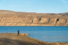 O Rio Columbia bonito na estação do inverno, WA Fotos de Stock