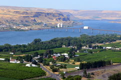 O Rio Columbia, Maryhill, Washington Fotografia de Stock