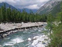 O rio da montanha Fotos de Stock