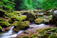 O rio da montanha na Crimeia fotos de stock